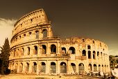 Colosseum  - italian landmarks series-artistic toned picture