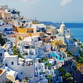 view of Fira town - Santorini (from my greek series)