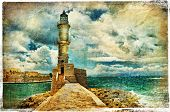 artwork in painting style - lighthouse