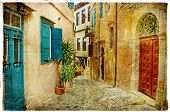 pictorial streets of old Greece (Chania - Crete)