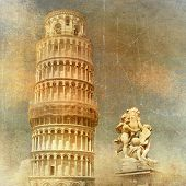 Pisa - retro styled picture