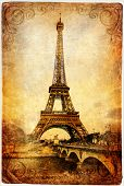 Eiffel tower - retro picture