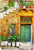 pictorial old traditional streets of Greece