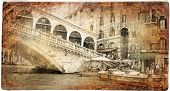 Venice - Rialto bridge - retro styled picture