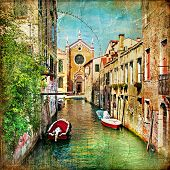 stock photo of gondola  - beautiful Venice  - JPG