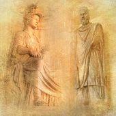 great antique Rome - artwork in retro style series