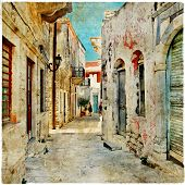 charming old greek streets, Naxos island