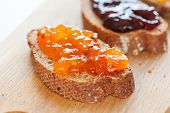 toasts with jam