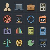 Business Icons. Flat Metro Style Icon Set. Vector illustration.