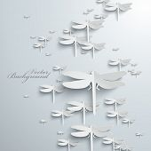 Abstract 3D Dragonflies Design
