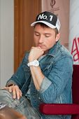 BARNAUL, RUSSIA - JUNE 4: Sergey Lazarev, famous singer before concert at Barnaul on June 4, 2013 in
