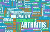 picture of joint inflammation  - Arthritis as a Medical Condition in Concept - JPG