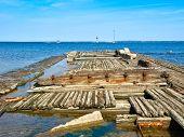 Old Wooden Ship Sunk. Tallinn