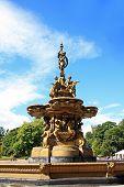 Ross Fountain In Princess Street Gardens In Edinburgh, Scotland