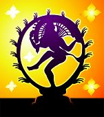 picture of bharatanatyam  - Illustration of Lord nataraj in amber light - JPG