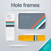 Vector design Frames template. Use for infographics, web, design etc. Banner, corner, info. Square