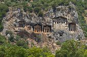 Kaunian Rock Tombs From Dalyan
