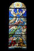 PARIS, FRANCE - NOV 07, 2012: Birth of Jesus proclaim the words