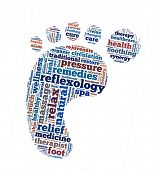 Reflexology in word collage