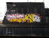 Graffiti on NDSM-werf, Amsterdam