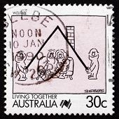Postage Stamp Australia 1988 Welfare, Living Together