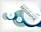 Glossy circle geometric shape info graphic background. For business presentation | technology | web design