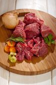 pic of stew  - raw stew meat with ingredients - JPG