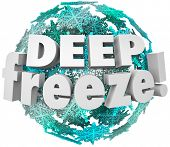Deep Freeze Snowflake Ball Cold Winter Blizzard Weather