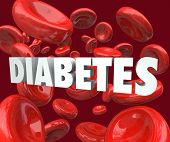 Diabetes Word Blood Cells Disease Disorder Treatment