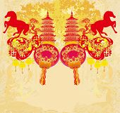 Chinese Mid Autumn Festival And New Year Design Element