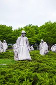 Korean Veterans Memorial In Washington, Dc