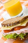 Fresh Wholemeal Cheese And Ham Sandwich