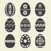 stock photo of easter decoration  - Set easter egg for your design - JPG