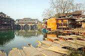 Hongqiao Bridge at Fenghuang (Phoenix) ancient town Hunan province, China