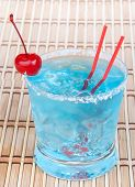 Cocktail Blue Hawaiian With Alcohol