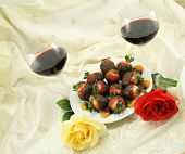 Wine Roses And Sweets