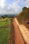old walls in Sigiriya castle, Sri lanka
