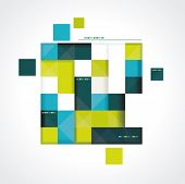 Vector Abstract Squares Background Illustration