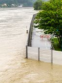 flood of 2013. linz, austria. overflows and flooding