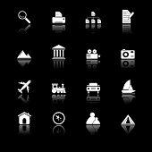Travel Icons I - black series