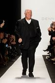 NEW YORK-FEB 10: Desinger Dennis Basso on the runway at the Dennis Basso fashion show during the 201