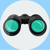 Black binocular icon