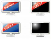 Modern web 2.0 flat TV icons