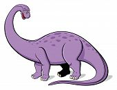 stock photo of apatosaurus  - Illustration of Apatosaurus for children - JPG