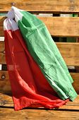 Italian Flags In The Wind