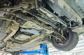 picture of chassis  - Image of a car repair garage - JPG