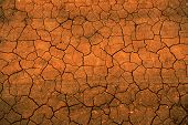 Dry cracked earth due to drought