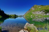 Lake Surface In The Alps Germany