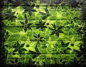 Abstract Art Flower Pattern Vintage Wood