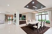 foto of mansion  - The white modern dining room interior home - JPG